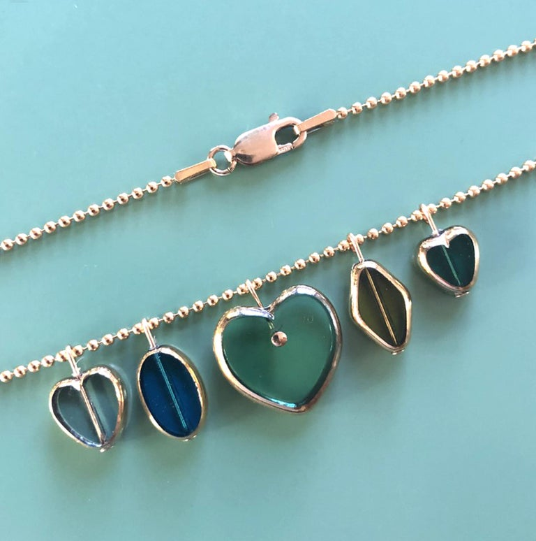 Retro Heart Charm Necklace For Sale