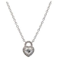 Heart Diamond 0.50 Carat Pendant with Diamond Setting 0.25 Carat