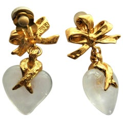 Heart ear clip by Yves St. Laurent 80's gold plated