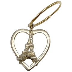 Heart Earring Eiffel Tower Silver Gold Hoop J Dauphin