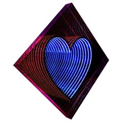 Heart Light Mirror Wall Decoration