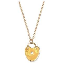 Jacqueline Rose Heart Lock Diamond Necklace