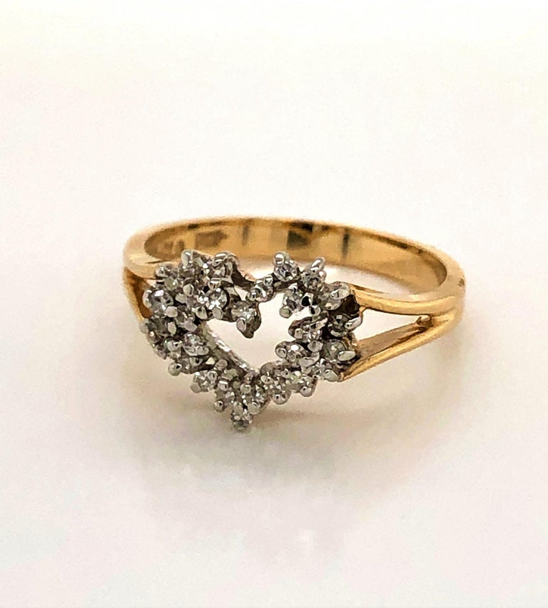 Heart of Gold with Diamond Ring For Sale 6