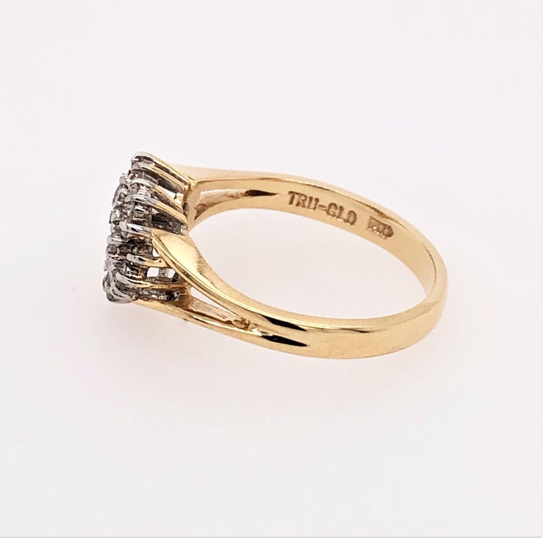 Women's Heart of Gold with Diamond Ring For Sale