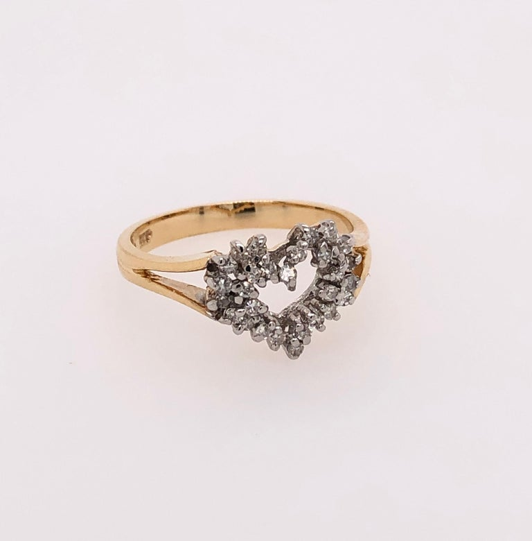 Heart of Gold with Diamond Ring For Sale 1