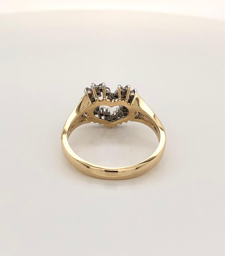 Heart of Gold with Diamond Ring For Sale 2