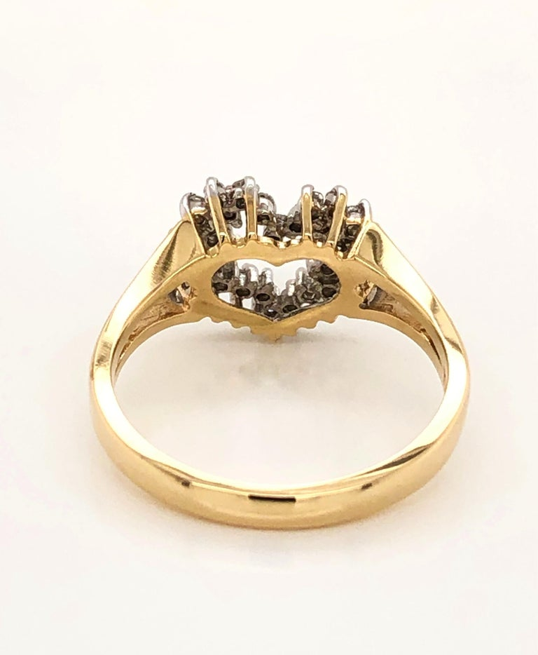 Heart of Gold with Diamond Ring For Sale 5