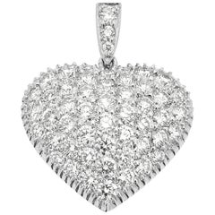 Heart Shape Diamond Pendant Set in Platinum