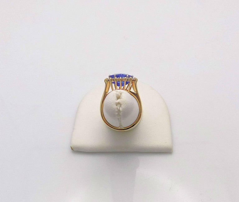 Women's Heart Shape Sapphire and Diamond Ring For Sale