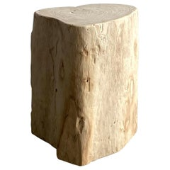 Heart Shaped Birch Wood Stump Side Table