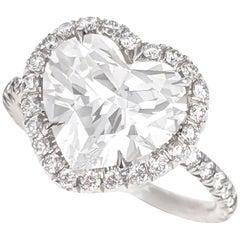 2.36 Carat Heart Shaped Diamond Ring GIA I VS2