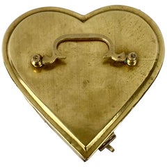 Heart Shaped Hinged Brass Box