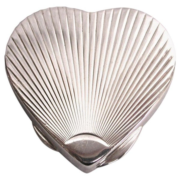 Heart Shaped Tiffany & Co. Pill Box, circa 1980, Made for Italian Market