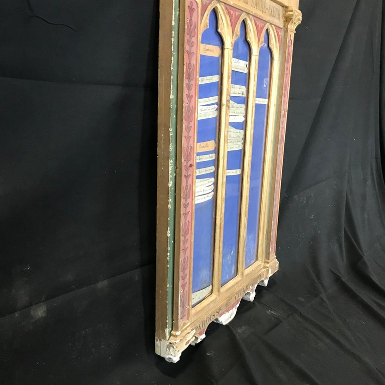 Heart Stopping Gothic Giltwood and Bas Relief Wall Art Found Object For Sale 11