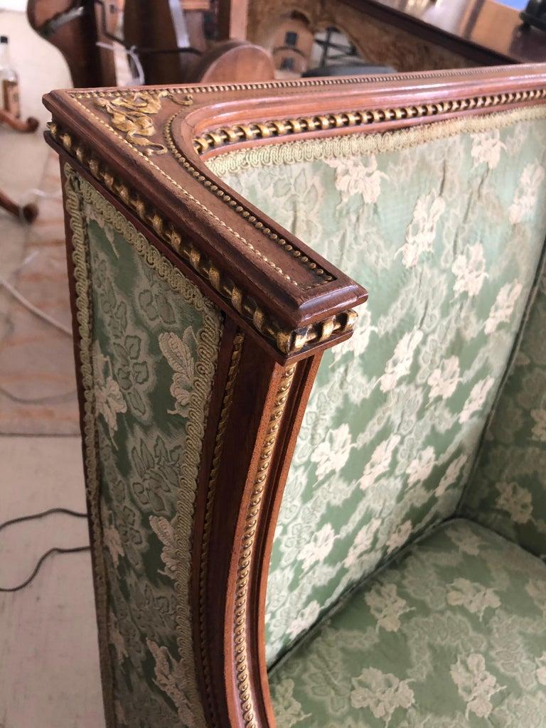 Heartbreakingly Elegant Ladies French Bergère Armchair For Sale 4