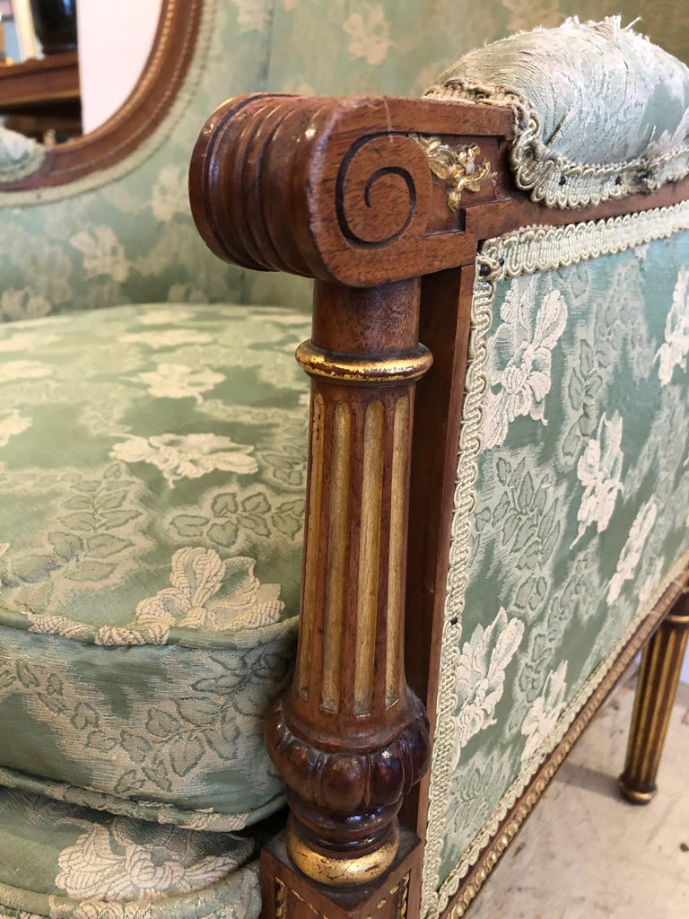 19th Century Heartbreakingly Elegant Ladies French Bergère Armchair For Sale