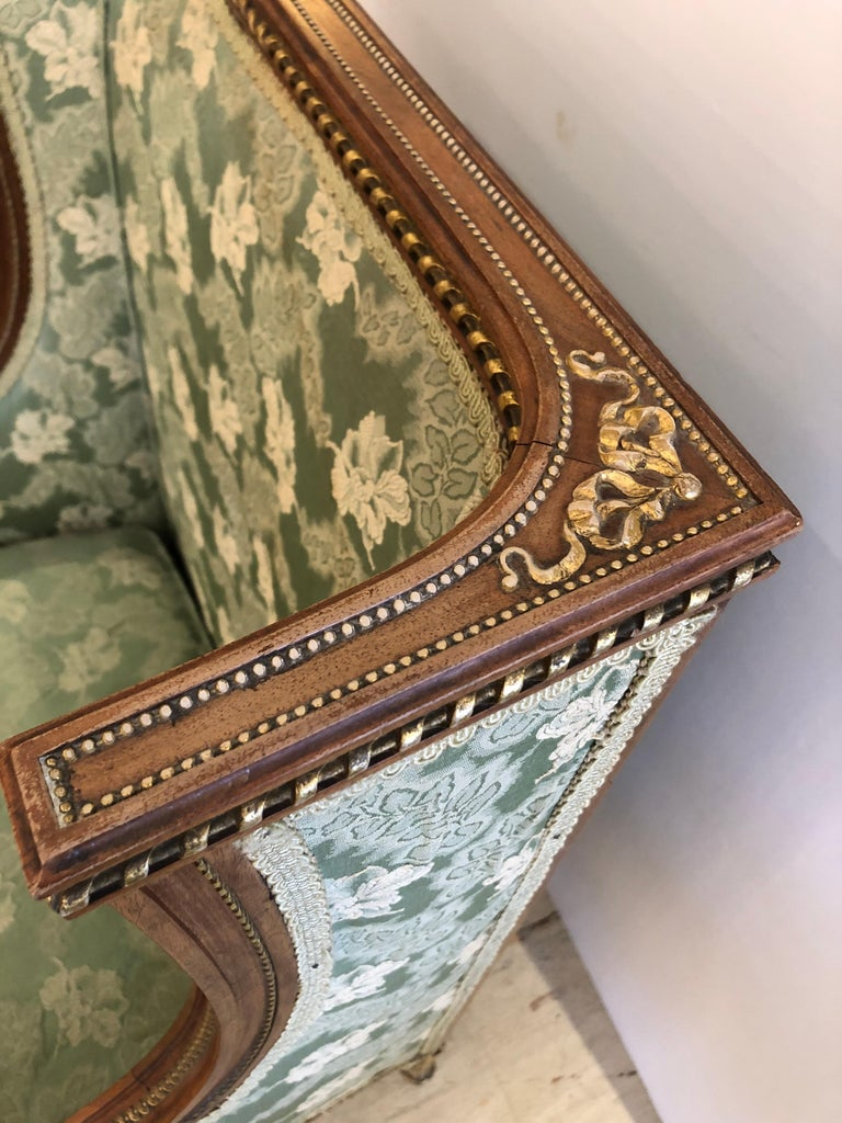 Upholstery Heartbreakingly Elegant Ladies French Bergère Armchair For Sale