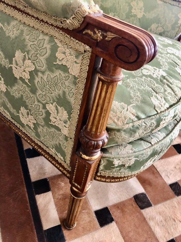 Heartbreakingly Elegant Ladies French Bergère Armchair For Sale 3