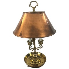 Hearth Warming Copper Shaded Brass Dutch Table Lamp