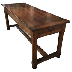 Hearth Warming French 19th Century Walnut Farmhouse Table from Provence