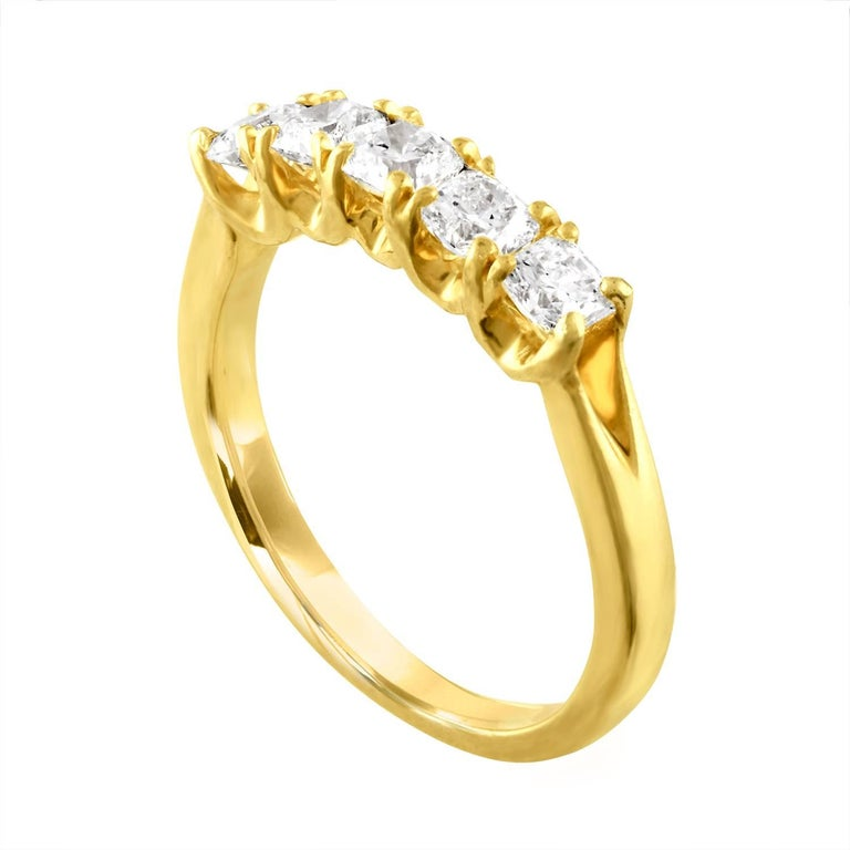 hearts on fire 1 00 carat dream diamond five stone gold ring for