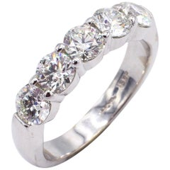 Hearts on Fire 18 Karat White Gold 2 Carat Diamond Wedding Band Ring