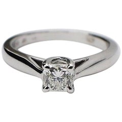 Hearts on Fire Dream Cut 0.44 Carat Diamond Ring in 14 Karat White Gold