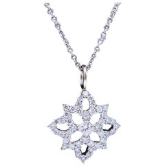 Hearts on Fire Dream Cut Diamond Mythical Necklace 0.59 Carat 18 Karat Gold