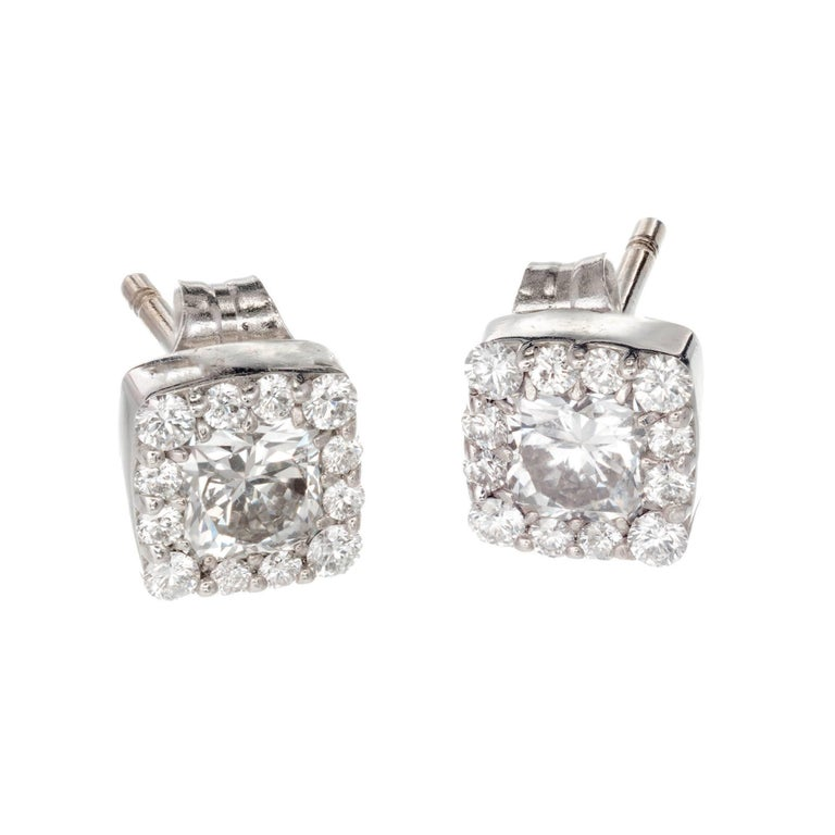 e5196d0d7 Hearts On Fire 72 Carat Dream Fulfilment White Gold Halo Stud. Kalahari  Dream Diamond 18k ...
