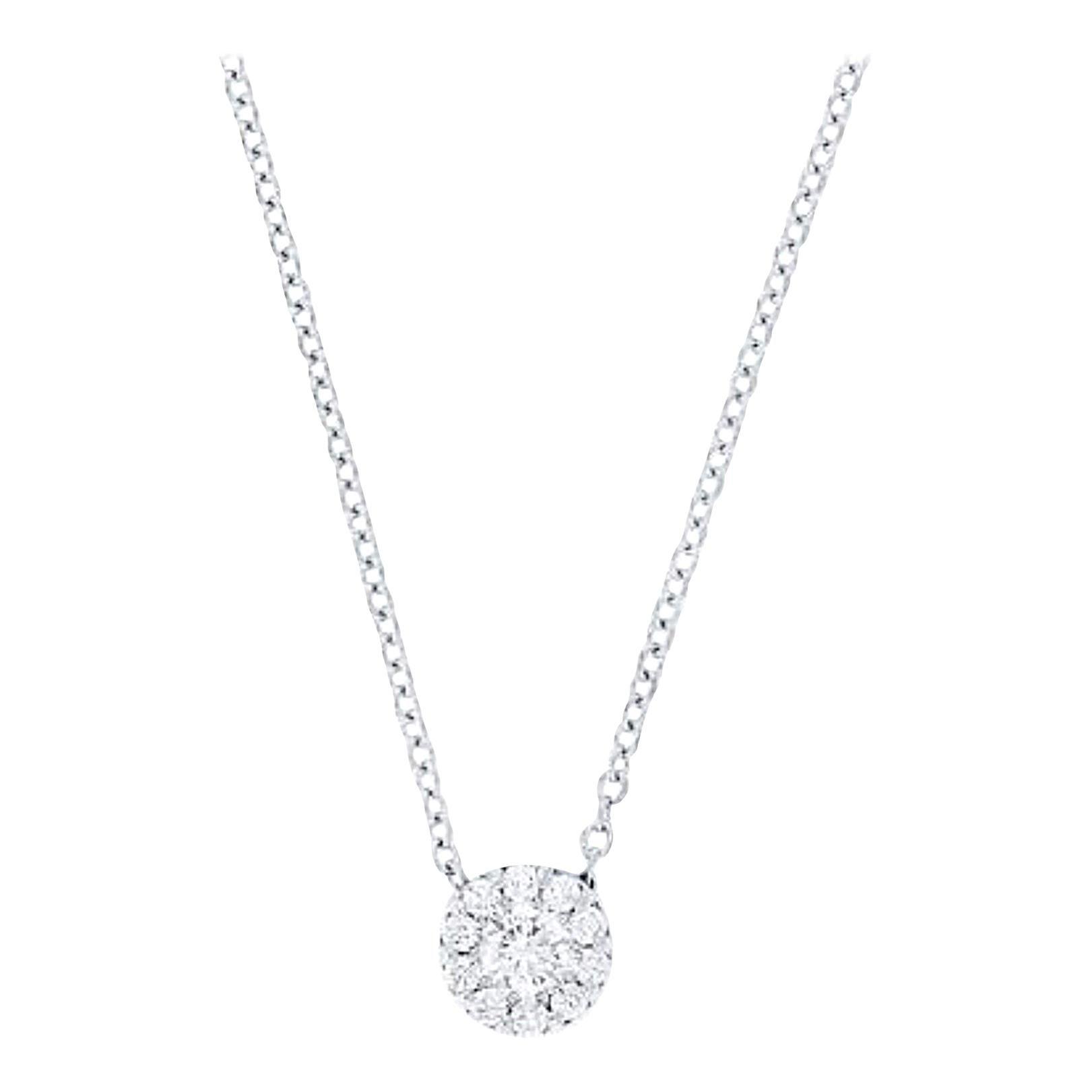 Hearts on Fire Fulfillment Diamond Pendant Necklace 18 Karat Gold FPS00708W