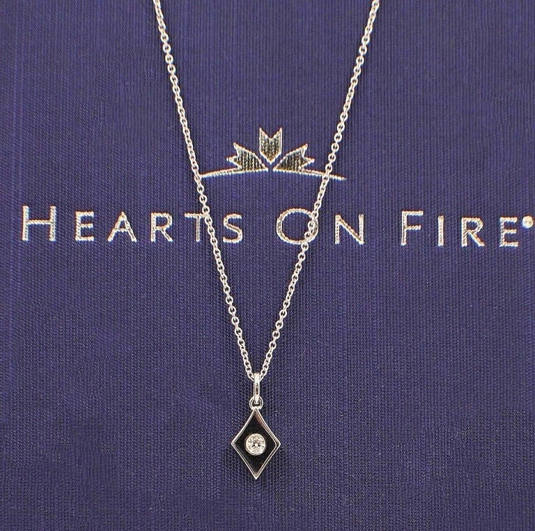 Hearts on Fire Full House Diamond Pendant Necklace 18 Karat White Gold In Excellent Condition For Sale In San Diego, CA