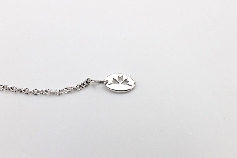 Hearts on Fire Full House Diamond Pendant Necklace 18 Karat White Gold For Sale 3
