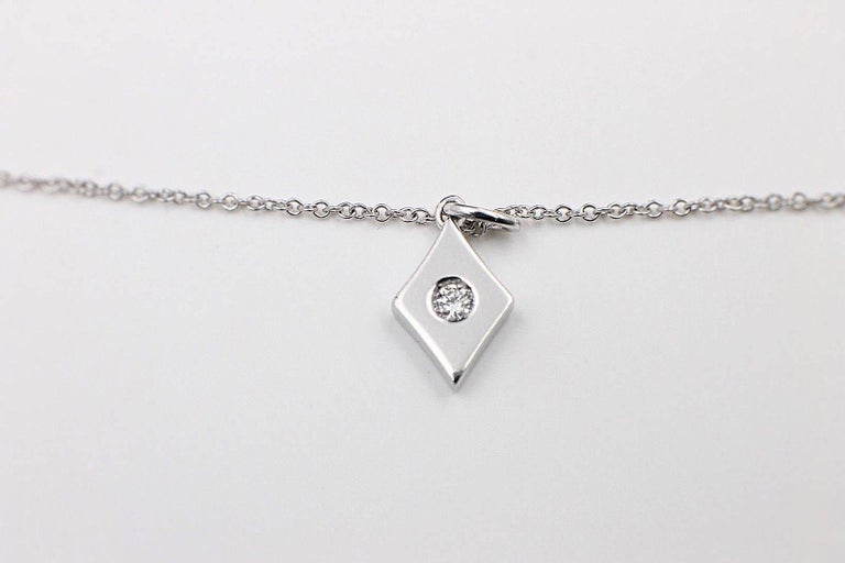 Hearts on Fire Full House Diamond Pendant Necklace 18 Karat White Gold For Sale 4