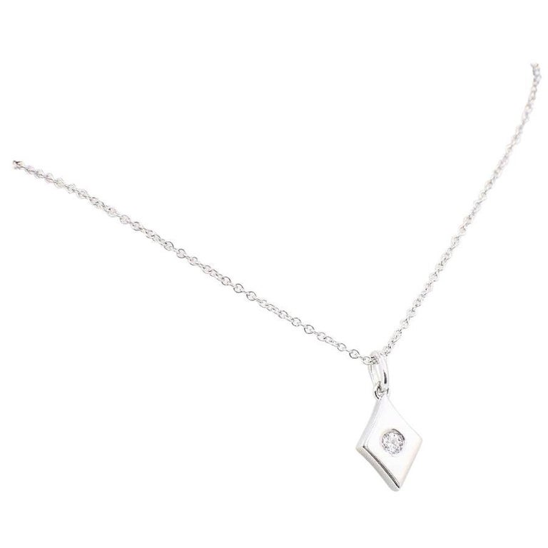 Hearts on Fire Full House Diamond Pendant Necklace 18 Karat White Gold For Sale