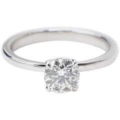 Hearts on Fire Round 0.667ct Flawless Diamond Engagement Ring in 18k White Gold