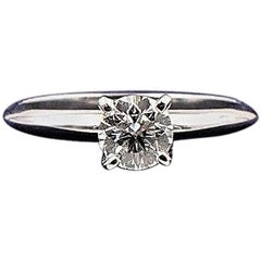 Hearts on Fire Round Brilliant 0.657 ct G VS2 Engagement Ring 14k White Gold