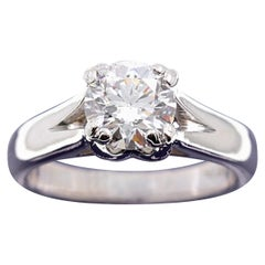 Hearts on Fire Round Brilliant Diamond 1.31 Carat G VS2 Engagement Ring Platinum