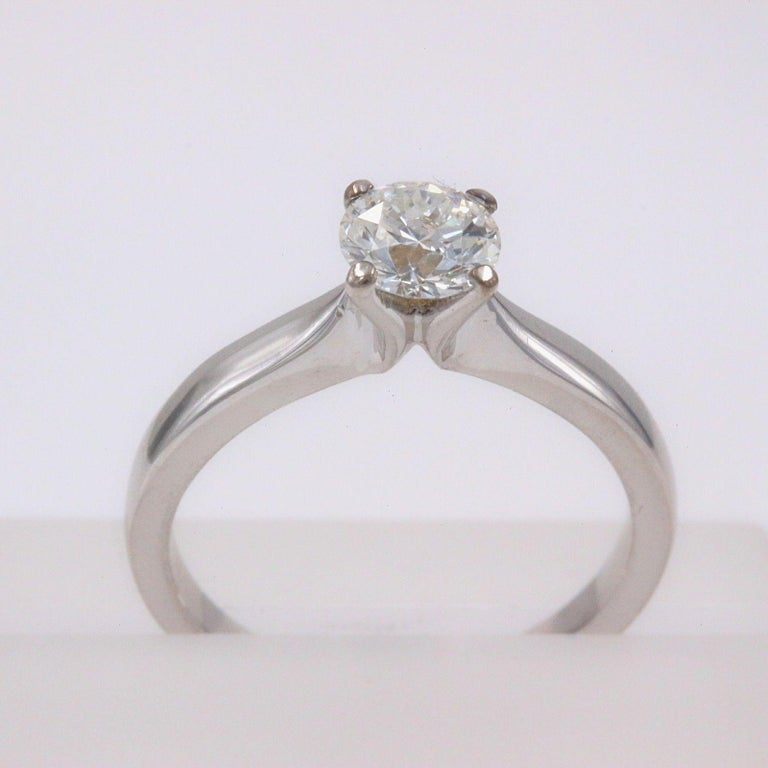 Hearts on Fire Signature Diamond Engagement Ring Round 0.71 Carat 18 Karat Gold For Sale 5