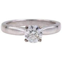 Hearts on Fire Signature Diamond Engagement Ring Round 0.71 Carat 18 Karat Gold