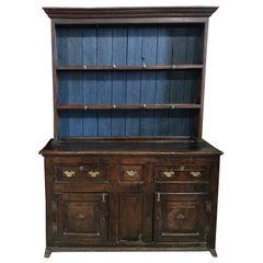 Heartwarming 18th Century English China Cupboard Cabinet