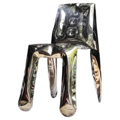 Heat Collection Chippensteel 1.0 Chair in Gold Stainless Steel by Zieta
