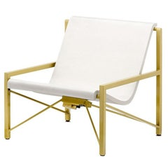 Heated Indoor/Outdoor Cast Stone Evia Chair, Custom Frame, Bone