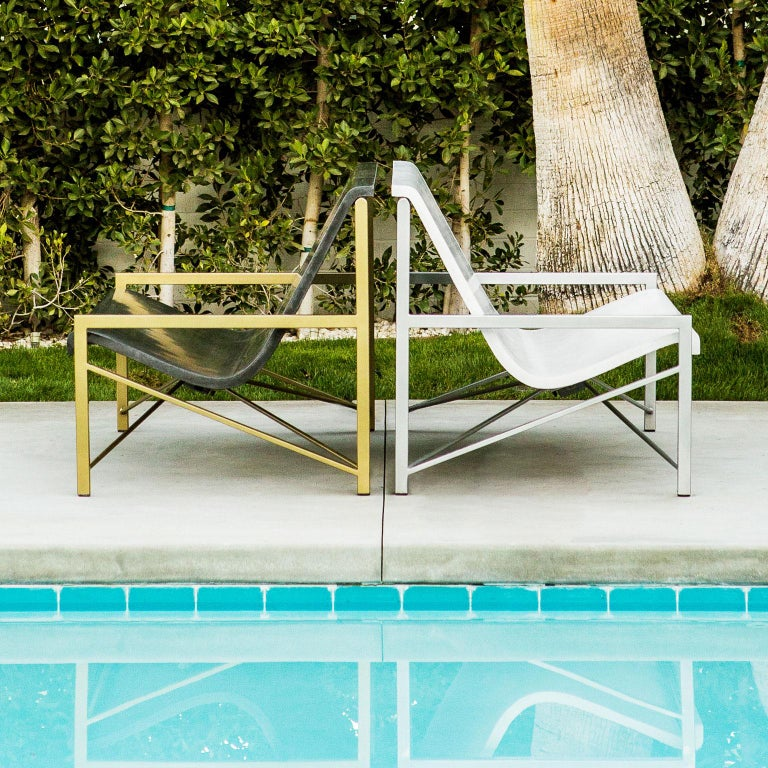 Heated Indoor/Outdoor Cast Stone Evia Lounge, Custom Frame, Bone In New Condition For Sale In San Francisco, CA