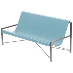 Heated Indoor/Outdoor Cast Stone Evia Lounge, Custom Frame, Ocean