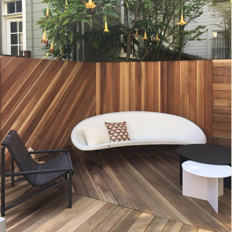 Heated Indoor/Outdoor Cast Stone Helios Lounge with Custom Frame, Arctic White In New Condition For Sale In San Francisco, CA