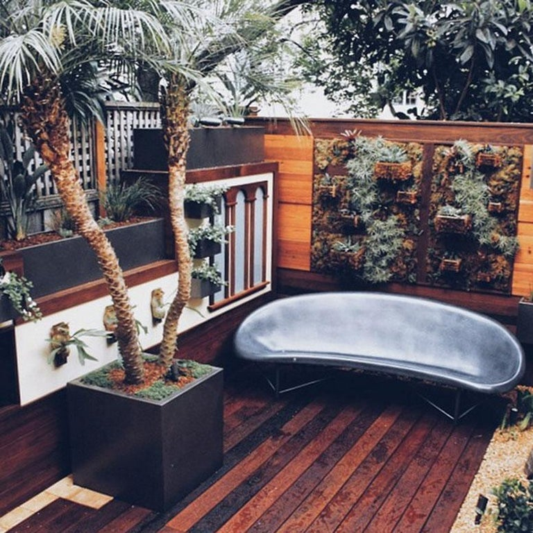 Heated Indoor/Outdoor Cast Stone Helios Lounge with Custom Frame, Charcoal In New Condition For Sale In San Francisco, CA