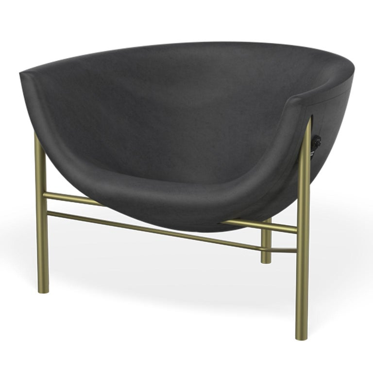 The Kosmos is the newest and lightest piece of heated furniture made of cast stone and stainless steel by Galanter & Jones. Smooth like a river rock, the Helios warms your entire body with its efficient and comfortable design. Imagine the feeling of