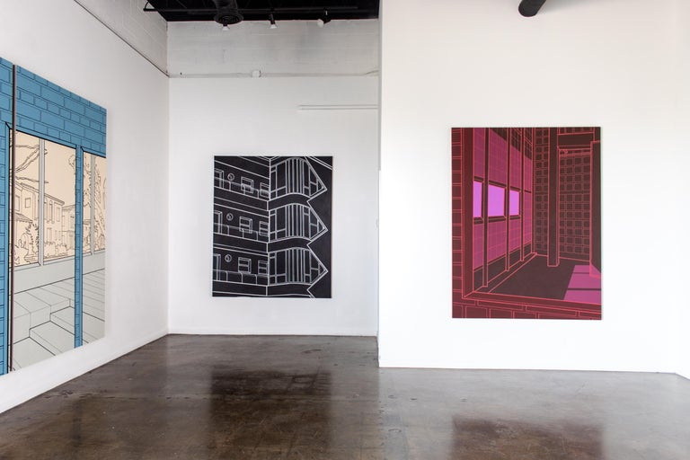 Heath West 2019 Oil and acrylic on linen   Galleri Urbane is pleased to begin our fall season with an exhibition of all new paintings by Los Angeles-based artist Heath West. Sixteen months after Neighborhood of Infinity, his first solo exhibition