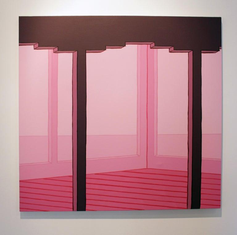 Villa Lautner - Minimalist Painting by Heath West