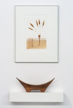 On a Course - a narrative of journey and change, mixed media, paper and vessel